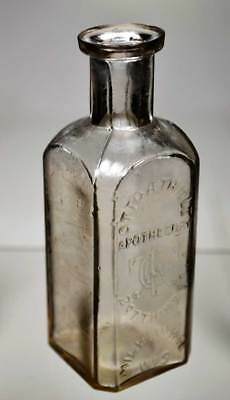 """Early! """"otto A. Thiele, Apothecary, Milwaukee, Wis."""" Embossed Medicine Bottle"""