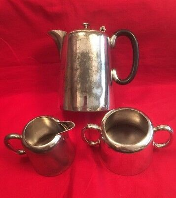 Vintage Silver Plated Hotel Teaset By T. Land & Sons c.1930's