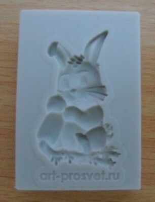 Rabbit Bunny Shaped  Silicone Mold Fondant Cakes Soap Clay Candles Decoration