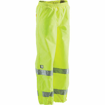 Berne Class E High Visibility Waterproof Safety Pants -Lime, 3XL