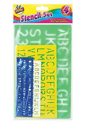 Letter Stencil Set A-Z 0-9 Alphabet Numbers Letters Craft Large Lettering