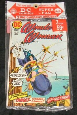 1973 DC Super Pac A-3 (3-Pack Sealed) Wonder Woman #205 Bronze Age CE504