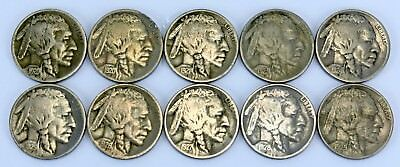 ( 10 ) Buffalo Nickels - All From 1920's - Lot# 1