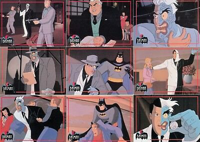 Batman Animated Series 2 1993 Topps Partial Base Card Set Of 85/90 Dc