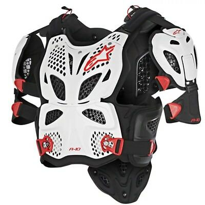 Alpinestars A-10 Full Chest Protector White Black Red