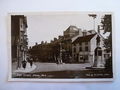 Vintage Postcard High Street, Stone Real Photograph 1933 (N)