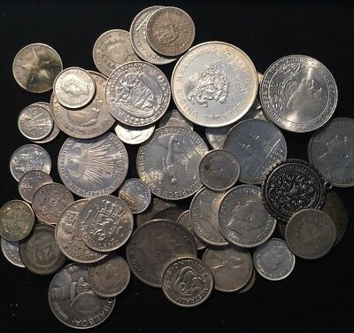 52 ALL SILVER World / Foreign Coins Lot INSTANT COLLECTION!!!!!!! #3