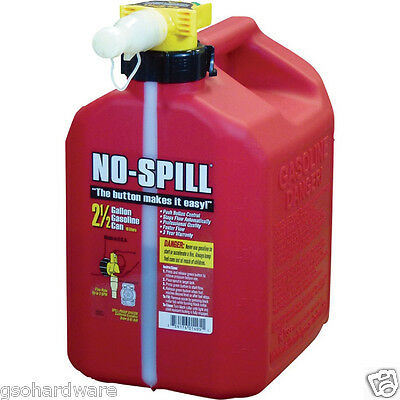 No-Spill 1405 2-1/2-Gallon Poly Gas Can (CARB Compliant) RED NEW!! 2.5