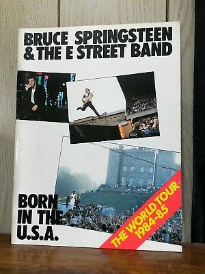 Bruce Springsteen the E Street Band Born in the USA 1984 85 World Tour program