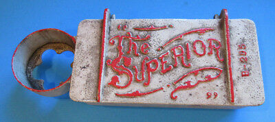 Vintage The Superior #B-295 cast iron implement farm tractor tool box 13""