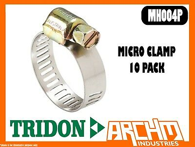 Tridon Mh004P - Micro Clamp Pack Hose 10 Pack 6Mm-16Mm Perforated Part Stainless