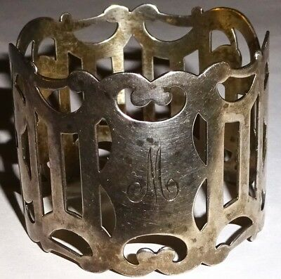 EARLY Antique STERLING SILVER Filigree NAPKIN RING~22 GRAMS~LOT #1! NR!