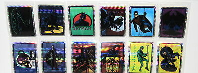 1994 Batman Forever Vending Machine Complete Lot Of 10 Prism Sticker Sets Mint