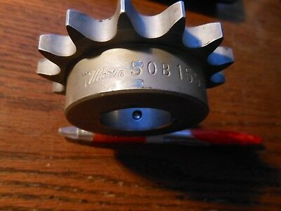 "Martin Sprockets 50B15SS, 15 Teeth, Stainless Steel, 1-1/4"" Bore, 50B 15SS"