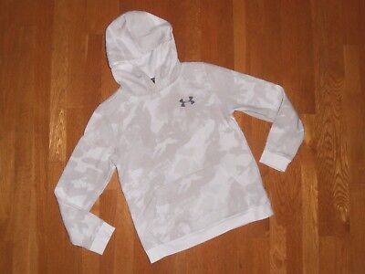 New Boys White Under Armour Lightweight Hoodie Size Youth Large!