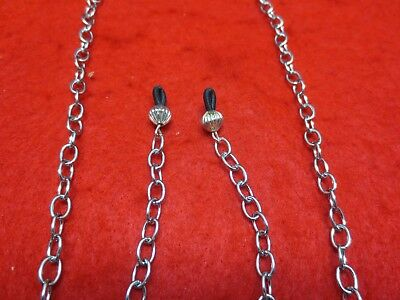 34 inch  STAINLESS STEEL SILVER 5MM LINK ROPE EYEGLASS HOLDER