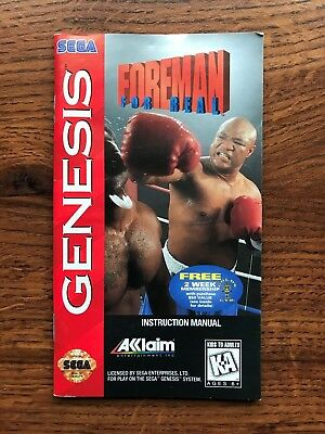 Foreman for Real Boxing George Sega Genesis Game Instruction Manual Only
