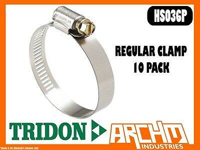 Tridon Hs036P  - Regular Clamp Hose 10 Pack 46Mm-70Mm Perforated Part Stainless