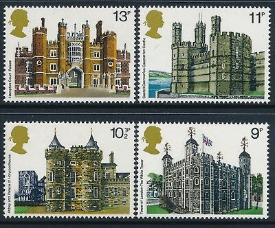 Gb 1978 Historic Buildings Set Of 4 Fine Mint Mnh Sg1054-Sg1057
