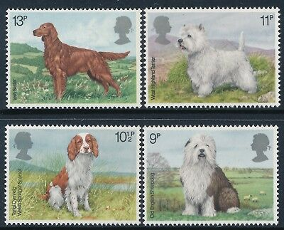 Gb 1979 Dogs Set Of 4 Fine Mint Mnh Sg1075-Sg1078