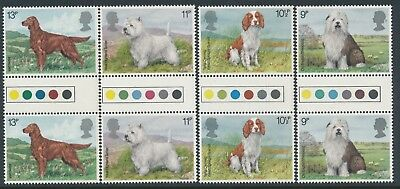 Gb 1979 Dogs Traffic Light Gutter Pairs Set Of 4 Fine Mint Mnh