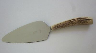 SCOTTISH C B WILSON Pitlochry Scotland STAG HORN handle CAKE PIE SERVER