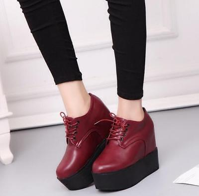 Fashion New Women Platform Shoes Thick Bottom Autumn New Korean High Wedge Shoes
