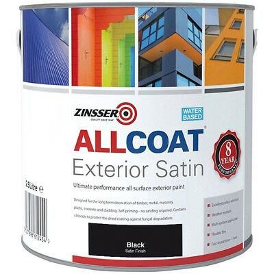 Zinsser Allcoat Multi-Surface Self-Primer Extérieur 8 An Wb Satin Noir 5L