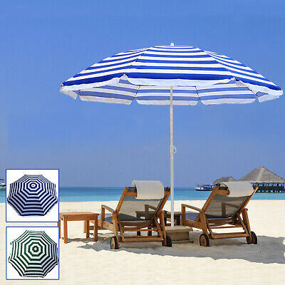 160cm 180cm Outdoor Garden Beach Patio Tilt Umbrella Parasol Sun Shade Tilting