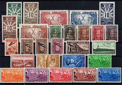 P61796/ Turquie Turkey / Lot 1933 - 1938 Neuf * / Mint Mh 135 €