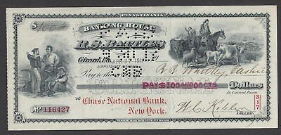 1917 R.S. Battles Girard Pennsylvania Bank Draft.