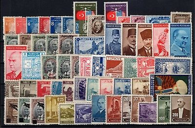 P61798/ Turquie Turkey / Lot 1938 - 1942 Neuf * / Mint Mh 178 €