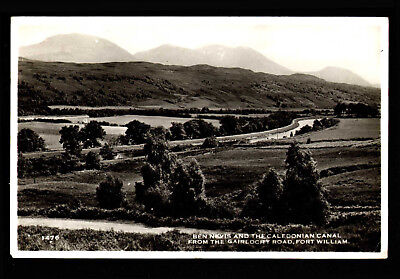 H59 RP Ben Nevis & Caledonain Canal Gairlochy Road Posted 1960