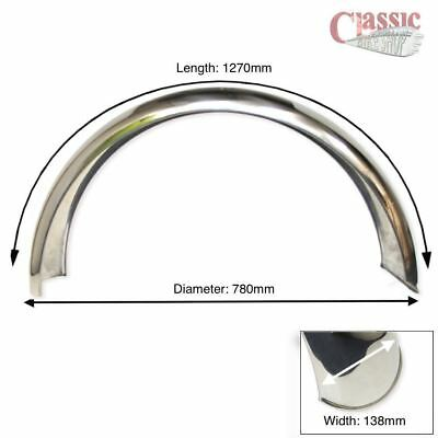 Universal Rear Stainless Steel Mudguard/Fender Ideal For BSA A65 1967/70