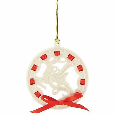2016 Lenox Christmas Wrappings Reindeer Circle Porcelain Ornament 859546 New