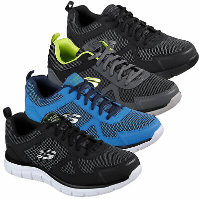 MENS SKECHERS TRACK BUCOLO Lace Up Gym Memory Foam Sport Trainers Sizes 6 to 12