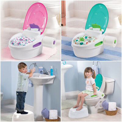Summer Infant Step by Step Potty Toilet Trainer Stand Alone Soft Seat Step Stool