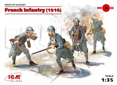 ICM Model Kit 35691 French Infantry (1916) 1:35 Figuren Modellbau