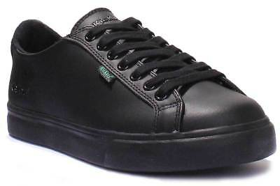 Kickers Tovni Lacer Men Black Leather School Shoes Size UK 6 - 12
