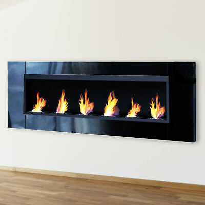 new bio ethanol fire fireplace 1200 x 400 bioethanol glass picclick uk. Black Bedroom Furniture Sets. Home Design Ideas