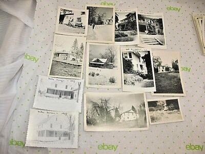 Vintage photo lot OF 12 CREEPY SCARY SPOOKY HAUNTED ? OLD HOUSES B & W SNAPSHOTS