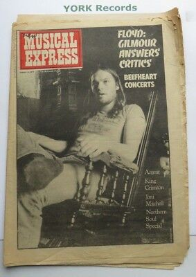 NEW MUSICAL EXPRESS NME - January 11 1975 - Dave Gilmour / Argent / King Crimson