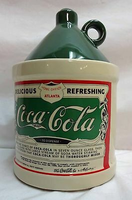 Coca-Cola Green & Beige Canister with Lid
