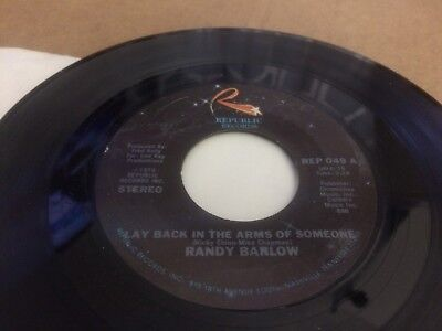 Randy Barlow Back In The Arms Of Someone ~ Musical Hearts Ps  45 7 C3