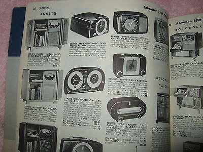 1950's Radio Catalog Radios Appliances Guide to Electrical Living Catalog Great