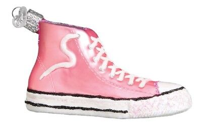 Old World Christmas Pink High Top Sneaker Show Glass Ornament 32315 FREE BOX New