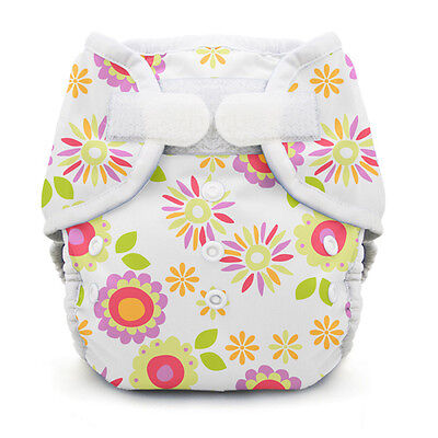 Thirsties Duo Wrap Applix Cloth Diaper Cover - Size Two - Alice Brights - EUC