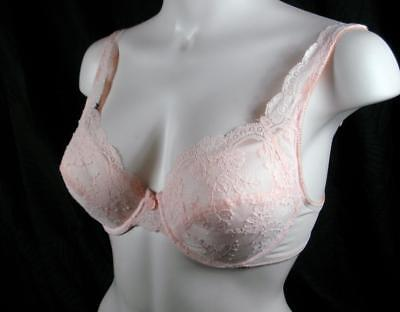 Vintage 80's Lillyette ®  Pink Lace Underwire Pre-Owned Bra   (36C)