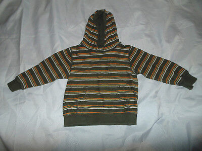 Boys 4T-5T 4 5 Gymboree Tiki Chief Striped Pullover Hoodie Hooded Sweatshirt