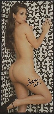 Kim Kardashian West Autographed picture cut from a Playboy Magazine, rear nude!
